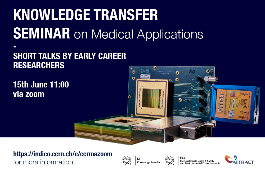 Knowledge Transfer webinar on medical applications by CERN ATTRACT researchers