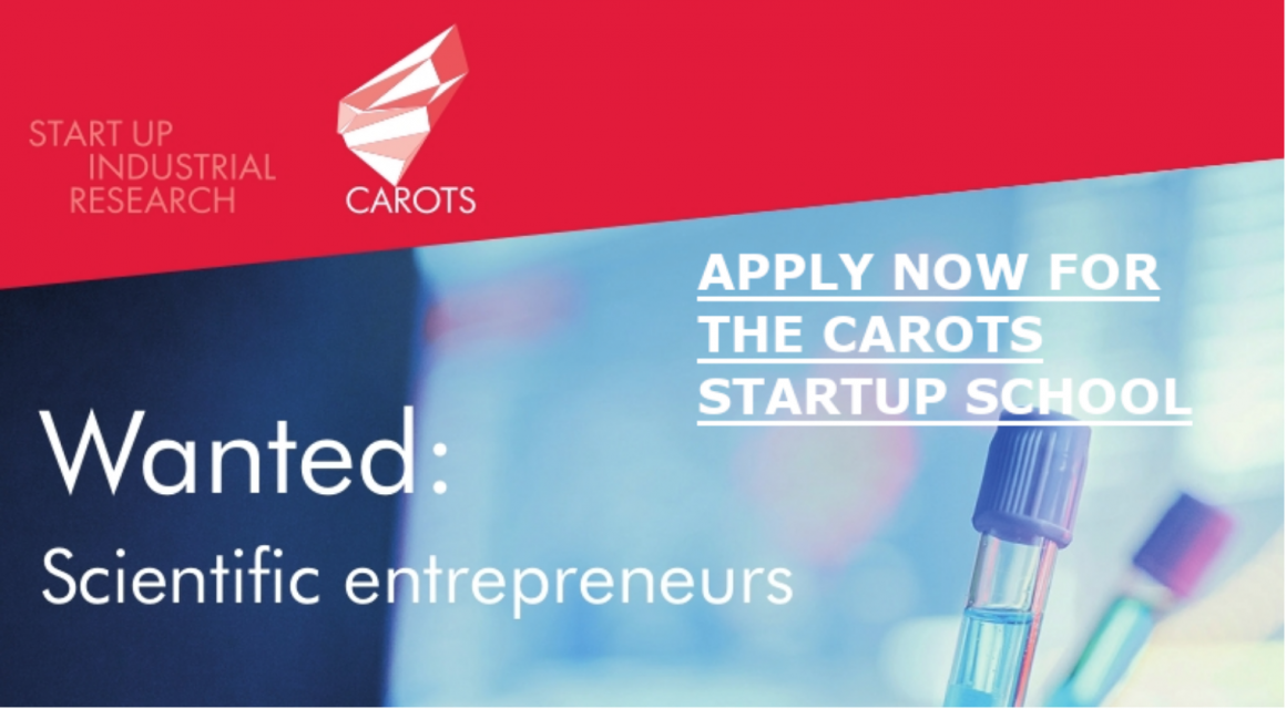 CAROTS startup school for scientific business ideas
